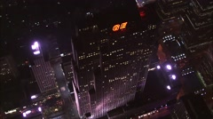 GE Building Manhattan Island - stock footage