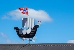 Viking wind ship Stock Photos