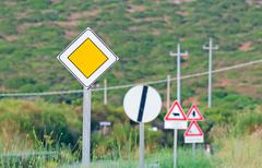 Stock Photo of road signs