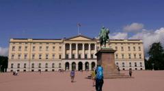 Royal oslo palace Stock Footage