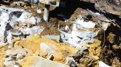 Excavator Rock Drill Stock Footage