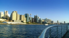 Sydney harbour city northside from water Stock Footage