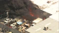 Warehouse Fire Las Vegas Stock Footage