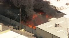 Warehouse Firefighters Las Vegas Stock Footage