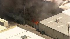 Fire Warehouse Las Vegas Stock Footage