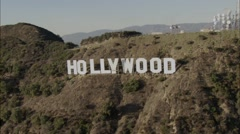 Stock Video Footage of Hollywood Sign Los Angeles