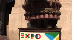 Mascotte Expo 2015 Stock Footage
