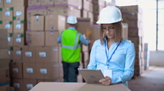 Warehouse Workday Stock Footage