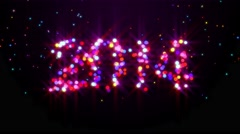 New Year 2014 to 2015 Drop Ball Glowing Loop Animation - 4K UHD - stock footage