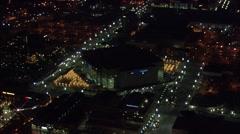 Utah Delta Center Nightlife Stock Footage