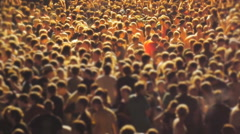a very large crowd of people selective focus - stock footage