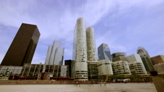 City panorama view. modern urban scenery Stock Footage