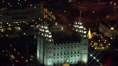 Mormon Temple Utah Stock Footage