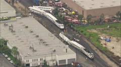 Chatsworth Metrolink Train Disaster Stock Footage