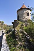 ruins (watchtower) - stock photo