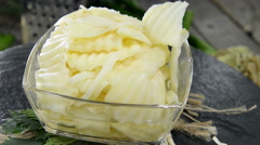 Homemade celeriac salad (not loopable) Stock Footage
