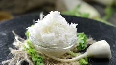 Grated horseradish (loopable) Stock Footage