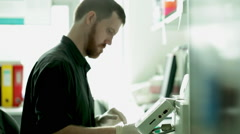 Experience research scientist working in lab - stock footage