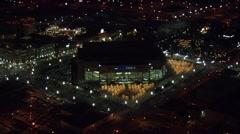 Utah City Lights Nightlife Stock Footage