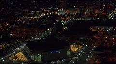 City Utah Lights Nightlife Stock Footage