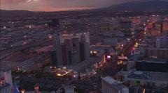 Las Vegas Sunset Strip Stock Footage
