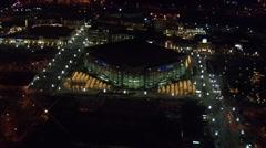 Utah City Lights Delta Center Stock Footage
