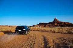 Mexican hat by car, amazing journey Stock Photos