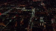 City Lights Utah Nighttime Glow Stock Footage