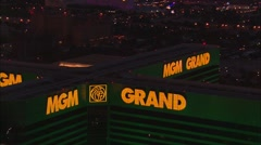 Las Vegas MGM Grand Hotel Stock Footage