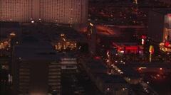 Las Vegas Strip Night Stock Footage