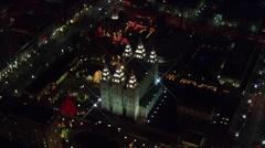 Utah Landmark Buildings Lights Stock Footage