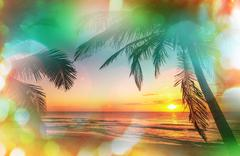 Tropical beach Stock Illustration