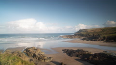 Polzeath cornwall coast beach england 4k Stock Footage
