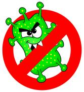 Viruses are not permitted Stock Illustration