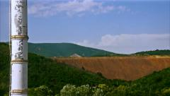 Clouds moving over a hill Stock Footage