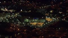 Lights Utah Nightlife Delta Center Stock Footage