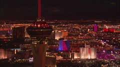 Las Vegas Strip Night Stock Footage