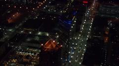 Skyline Utah Buildings Lights Stock Footage