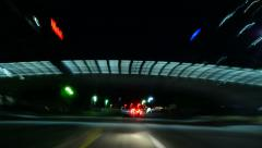 4K Driving Hyperlapse 46 POV Los Angeles Century City - stock footage