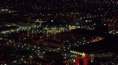 Utah Lights Buildings Stock Footage