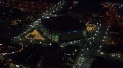 Utah Lights Buildings Delta Center Stock Footage