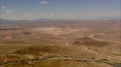 Desert River Mountains Stock Footage