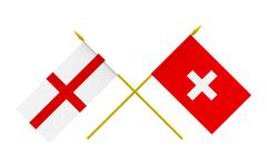 Stock Illustration of flags, england and switzerland