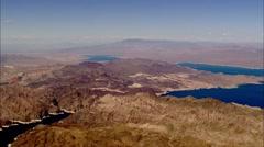River Mountains Desert Stock Footage