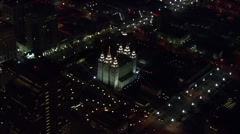Utah Buildings Lights Landmarks Stock Footage