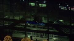 Utah Buildings Delta Center Lights Stock Footage