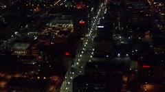 Utah Nightlife Buildings Lights Stock Footage