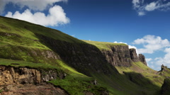 4k quiraing isle of skye scotland timelapse mountains Stock Footage