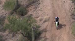 Arizona Desert Motocycle Stock Footage