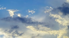 Sunset. The sky was covered with black clouds. Time lapse clouds. Variable time. Stock Footage